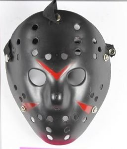 A photo of the mask worn by offender Sean Monger