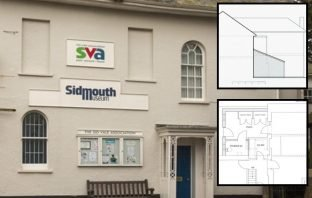 A photo of Sidmouth Museum and plans for extension