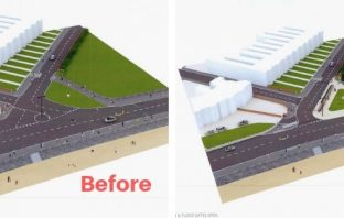 An artist's impression of how the Alexandra Terrace junction with the Esplanade on Exmouth seafront could be transformed.