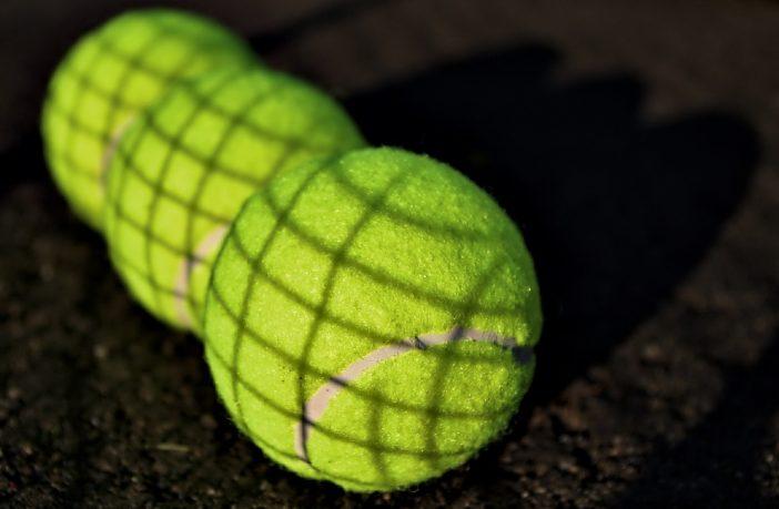 A photo of some tennis balls.