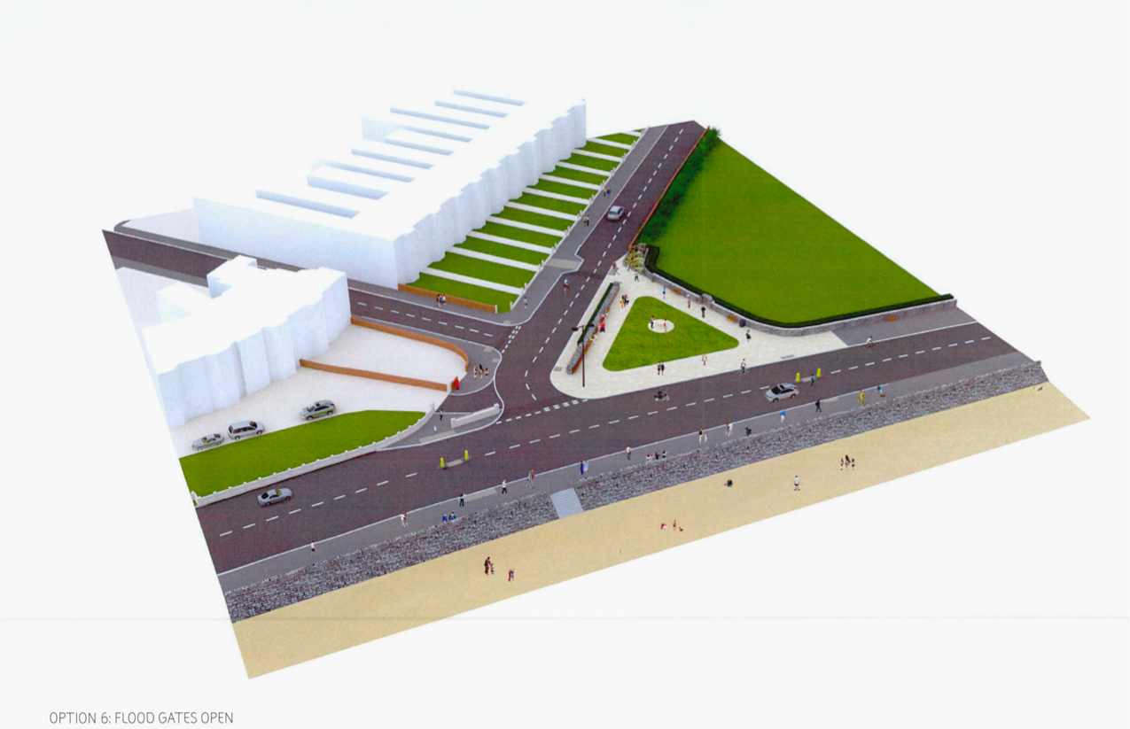 How the new Alexandra Terrace junction with the Esplanade on Exmouth seafront could look.