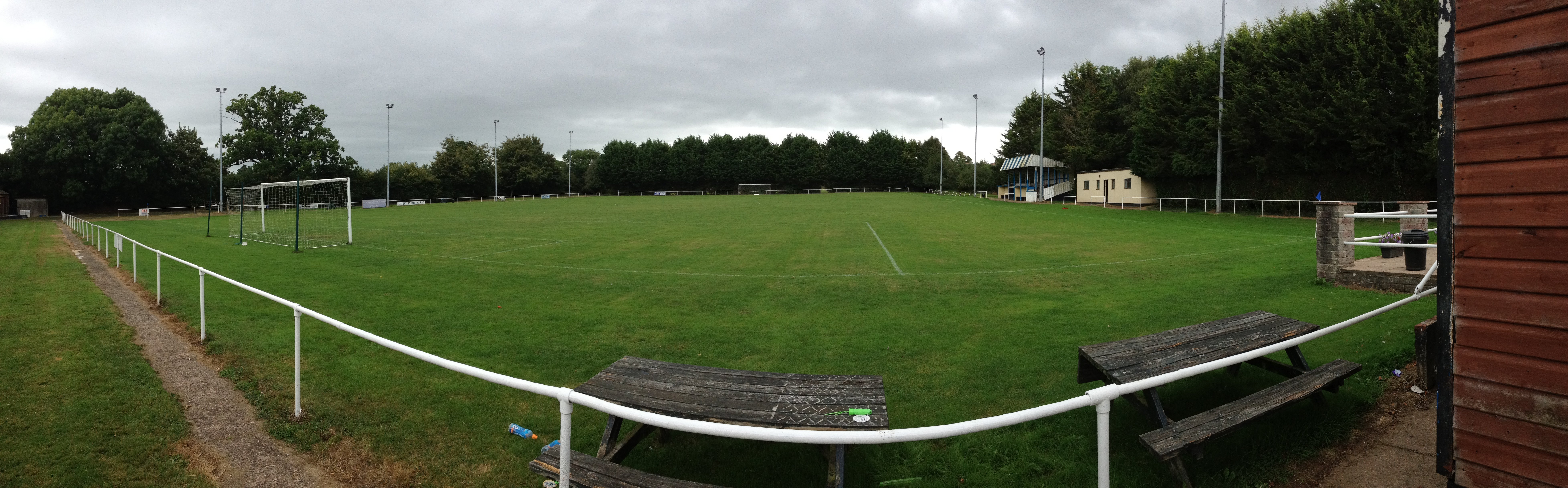 Ottery St Mary Football Club's Washbrook Meadows home.