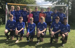 A photo of Brixington Blues Under-14s footballers.
