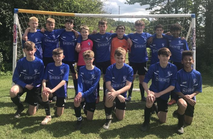 A photo of Brixington Blues Under-14s footballers.