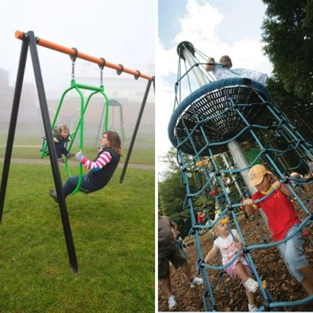 Some of the new equipment set to go into the Pinhoe children's play park in Station Road. Picture: Exeter City Council