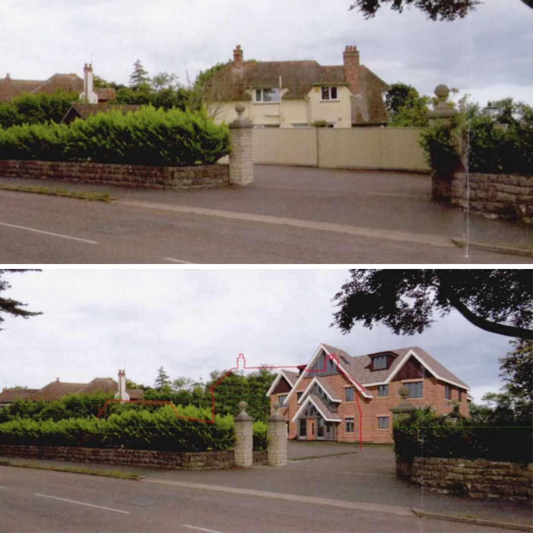 Before and after? How the apartments in Cranford Avenue, Exmouth, could look.