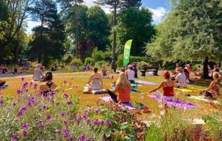 A photo of Park Yoga in Exeter at Heavitree Pleasure Ground.