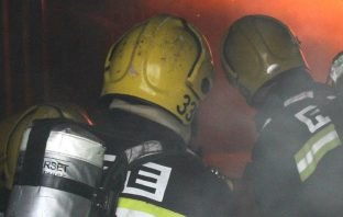 Firefighters were called to The Strand, Exmouth