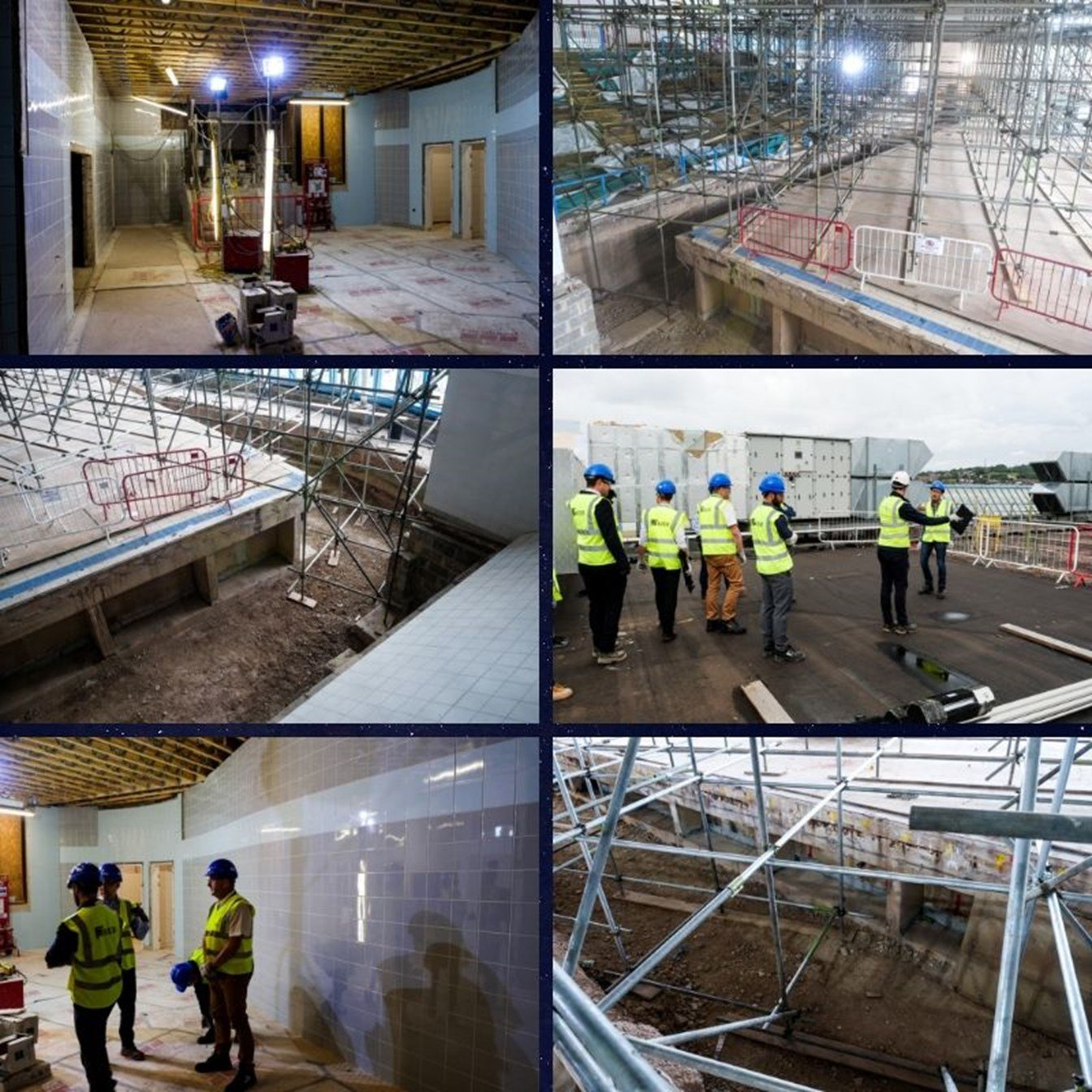 Work at the Riverside swimming pool in Exeter. Pictures: Exeter City Council