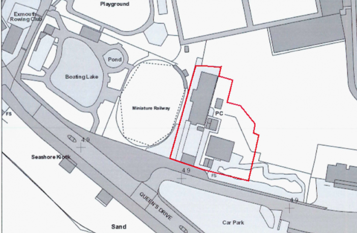 Plans for the temporary Exmouth seafront car park.