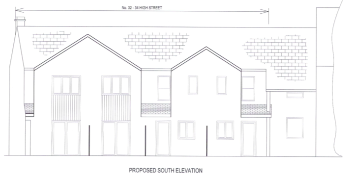 Plans for new homes in Honiton High Street