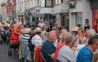 Scenes from the Budleigh Salterton street party