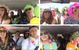 Sidmouth College staff's Carpool Karaoke