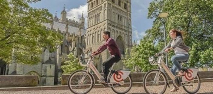Co-bikes electric cycles are coming to Honiton and Cranbrook.