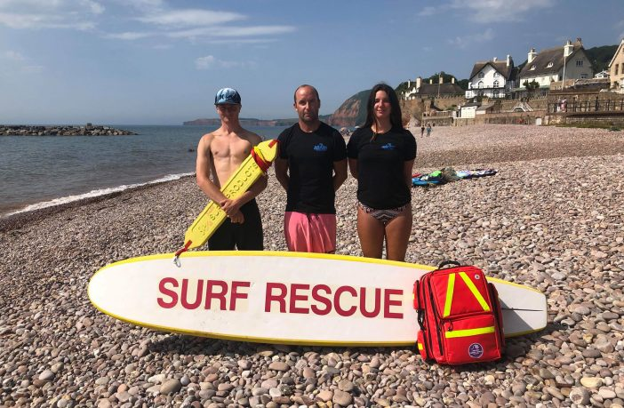 Sidmouth Jurassic Paddle Sports owner Guy Russell on Sidmouth beach