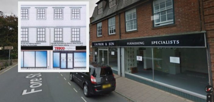 Tesco bags go-ahead for cashpoint outside soon-to-be-opened store in Budleigh Salterton