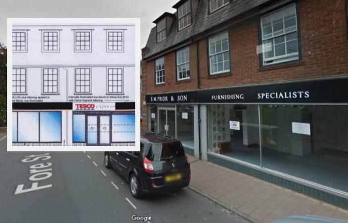 Tesco Budleigh Salterton cashpoint Fore Street