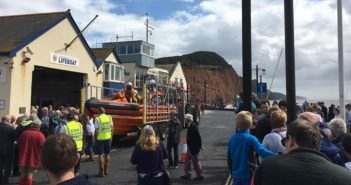 VIDEO & PHOTOS: 'An emotional day' – new Sidmouth lifeboat is named after generous benefactors Peter and Barbara Truesdale