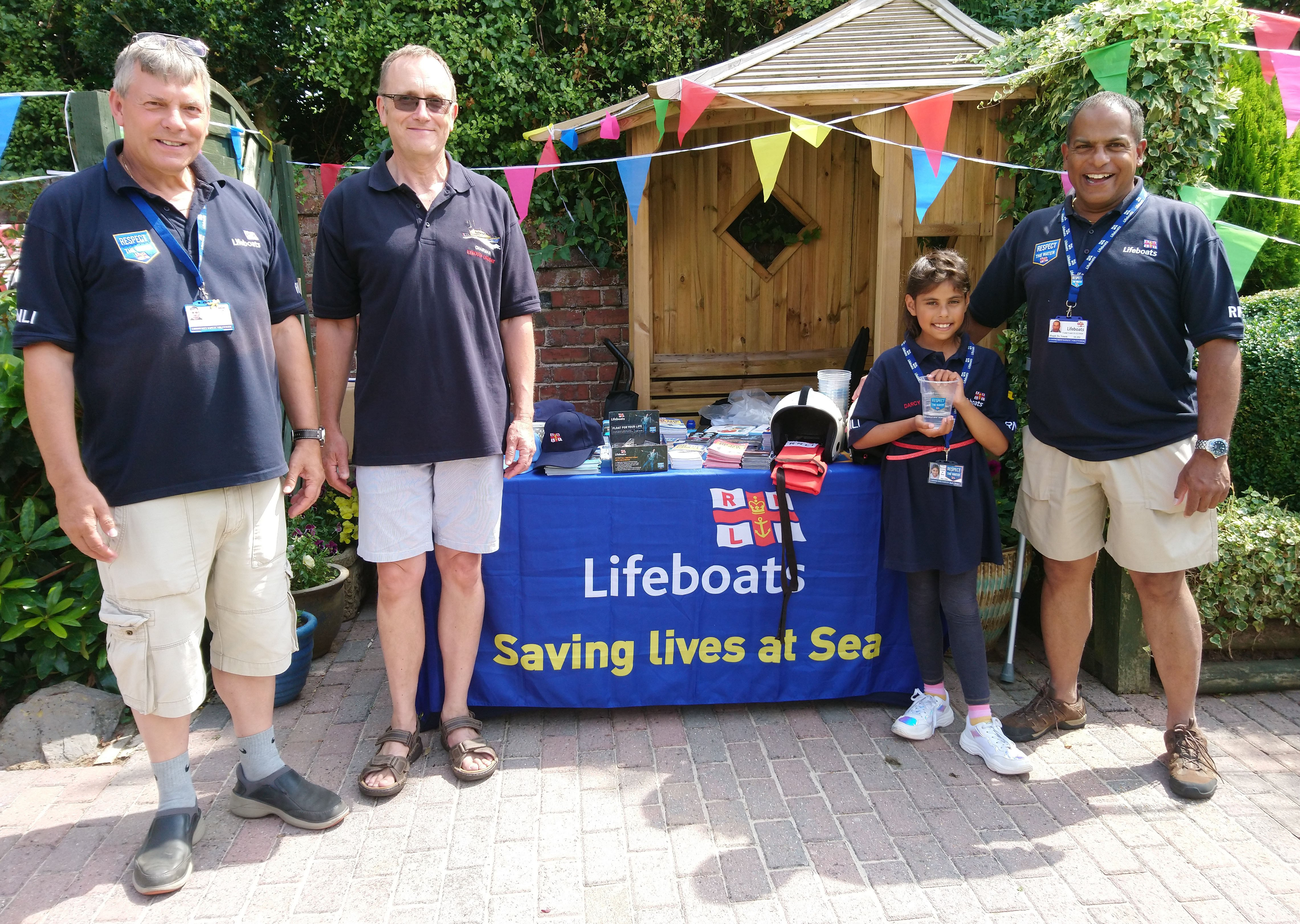 The volunteer RNLI community safety team at the garden party. Picture: Exmouth RNLI