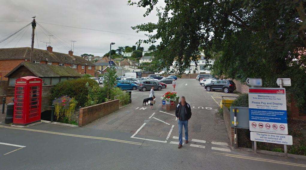 The Rolle Mews car park, in Fore Street, Budleigh Salterton. Picture: Google Maps.