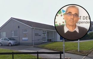 The Seaton and Colyton Medical Practice. Councillor Martin Shaw is pictured inset.