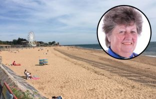 Beach wheelchairs could improve disabled access to Exmouth's sands. Councillor Pauline Stott (inset) came up with the idea.