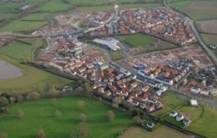 An aerial view of Cranbrook.