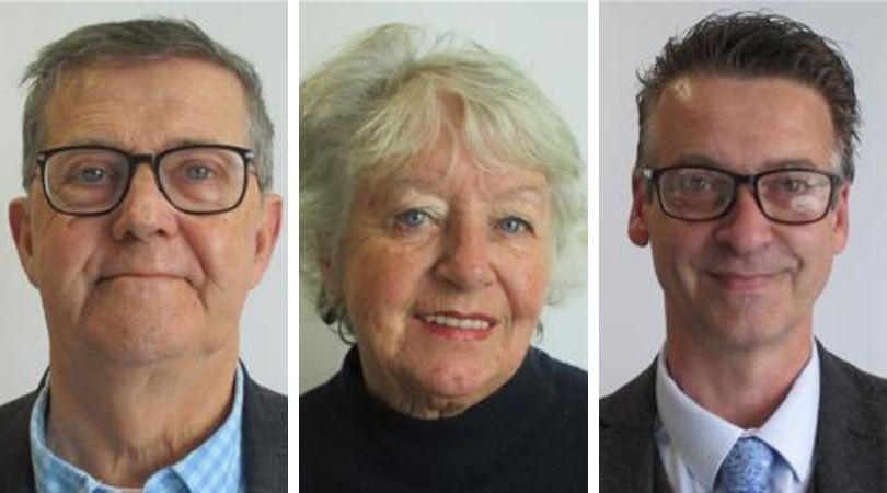 (l-r) Councillors Nick Hookway, Eileen Wragg and Paul Hayward expressed concern over the bid.