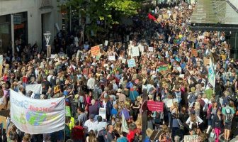 Thousands of people took part in the climate change protest in Exeter.