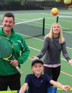 Steve Ashton's free tennis sessions are going down a storm in Cowick, Exeter.