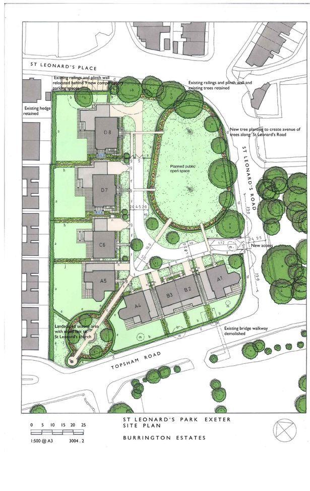 The site plans for Mount Radford Lawn. Image: Burrington Estates