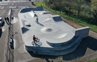 An aerial view of the new skate park in Budleigh Salterton. Picture: East Devon District Council