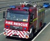 Blaze totally destroys log shed at property in East Devon