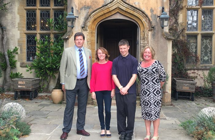 Cllr Andrew Leadbetter, Devon County Council's cabinet member with responsibility for adult social care, Fiona Moores, hotel director of The Pig at Combe and Ashley Pritchard, who is a Kitchen Porter at the hotel and eatery near Honiton, and Karen Palin from Jobcentre Plus, are pictured in 2018