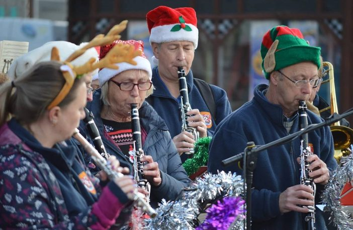 Exmouth Town Concert Band will be spreading festive cheer...
