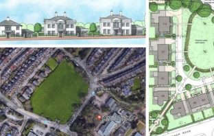 Plans for Mount Radford lawn in St Lenoard's Exeter