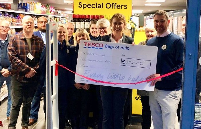 Tesco in Budleigh Salterton is officially opened.