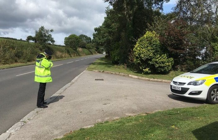 Police have been carrying out speed checks on Seaton Down Hill. Picture: Devon and Cornwall Police