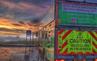 An East Devon recycling truck. Picture: East Devon District Council