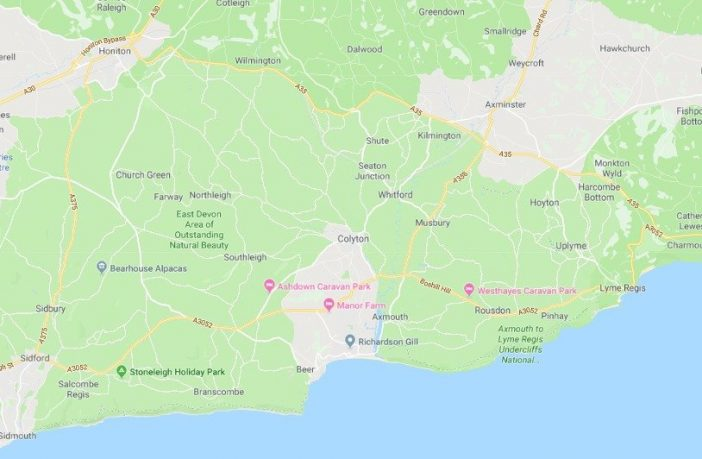 Calls have been made for a new Dorset and East Devon National Park to be created. Picture courtesy of Google Maps. Jurassic Park