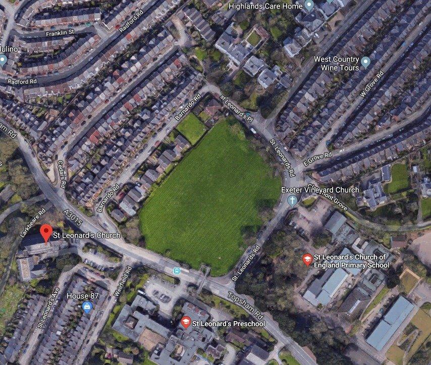 Mount Radford Lawn in St Leonard's, Exeter. Image: Google Maps