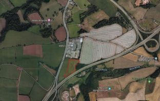 Proposed site of the Peamore Park And Ride Exeter