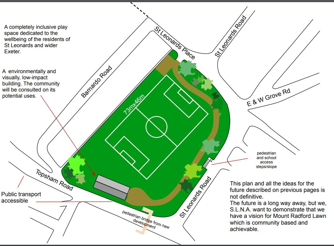St Leonard's Neighbourhood Association's vision for Mount Radford Lawn