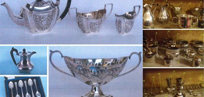 PHOTOS of silverware, jewellery and cash stolen in Sidmouth burglaries