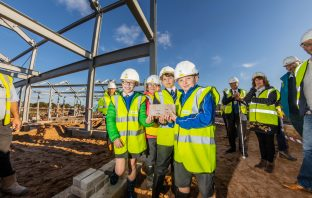 The topping out ceremony for Sideshore in Exmouth. Picture: Grenadier