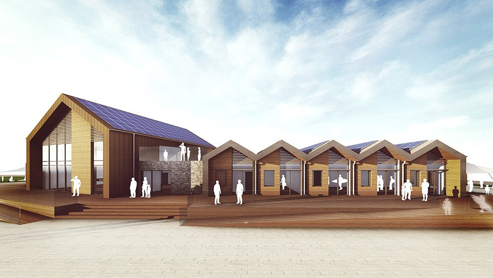 An artist's impression of the new watersports centre. Picture: Grenadier
