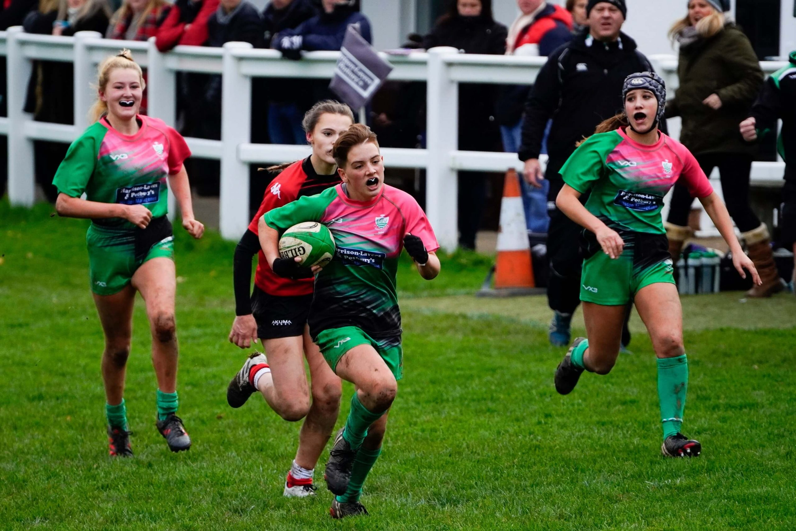 Sidmouth Under-18s girls' rugby side in action. Picture: contributed