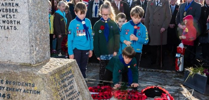 PHOTOS: Budleigh falls silent on Remembrance Sunday as town remembers the fallen