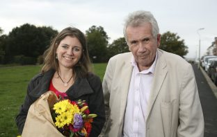 Prospective parliamentary candidate for East Devon Claire Wright is pictured with Martin Bell OBE.
