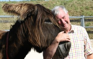 The Donkey Sanctuary ambassador Peter Wright will feature in the Channel 5 Help the Animals show.